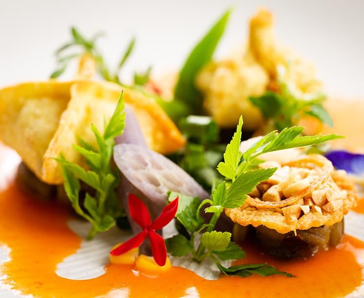 Grilled Eggplant Salad at Sombok Restaurant