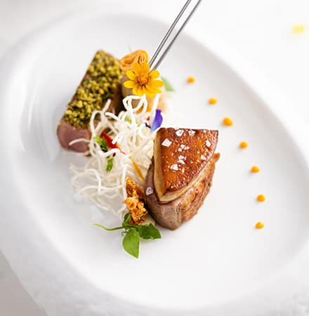 Grilled Duck Breast and Foie Gras