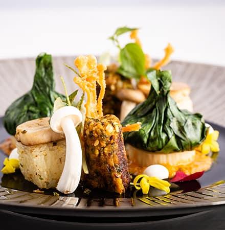 Grilled Mushroom Tamarind Sauce